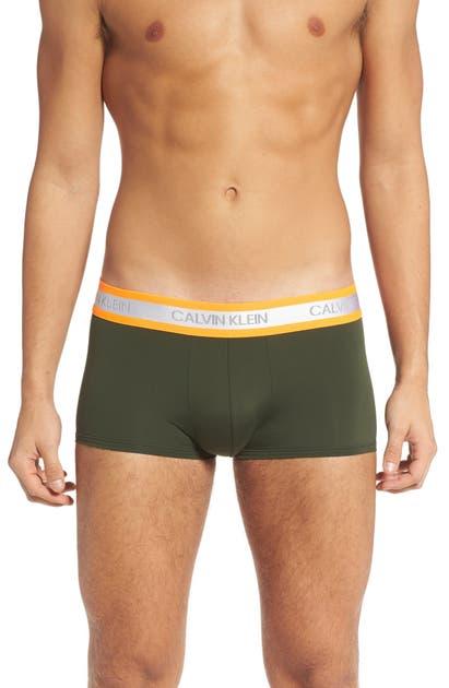 Calvin Klein Low Rise Trunks In Duffel Bag W/ Blaze Orange Wb
