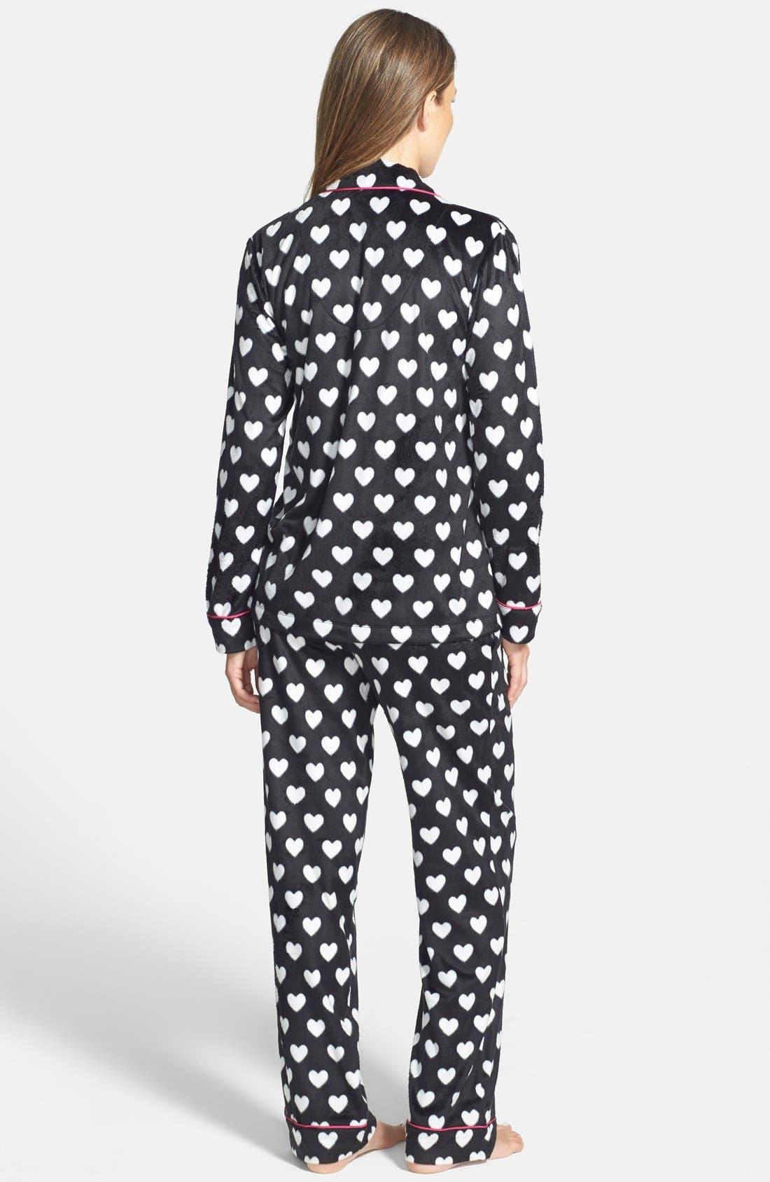 ,                             Long Sleeve Microfleece Pajamas,                             Alternate thumbnail 15, color,                             009