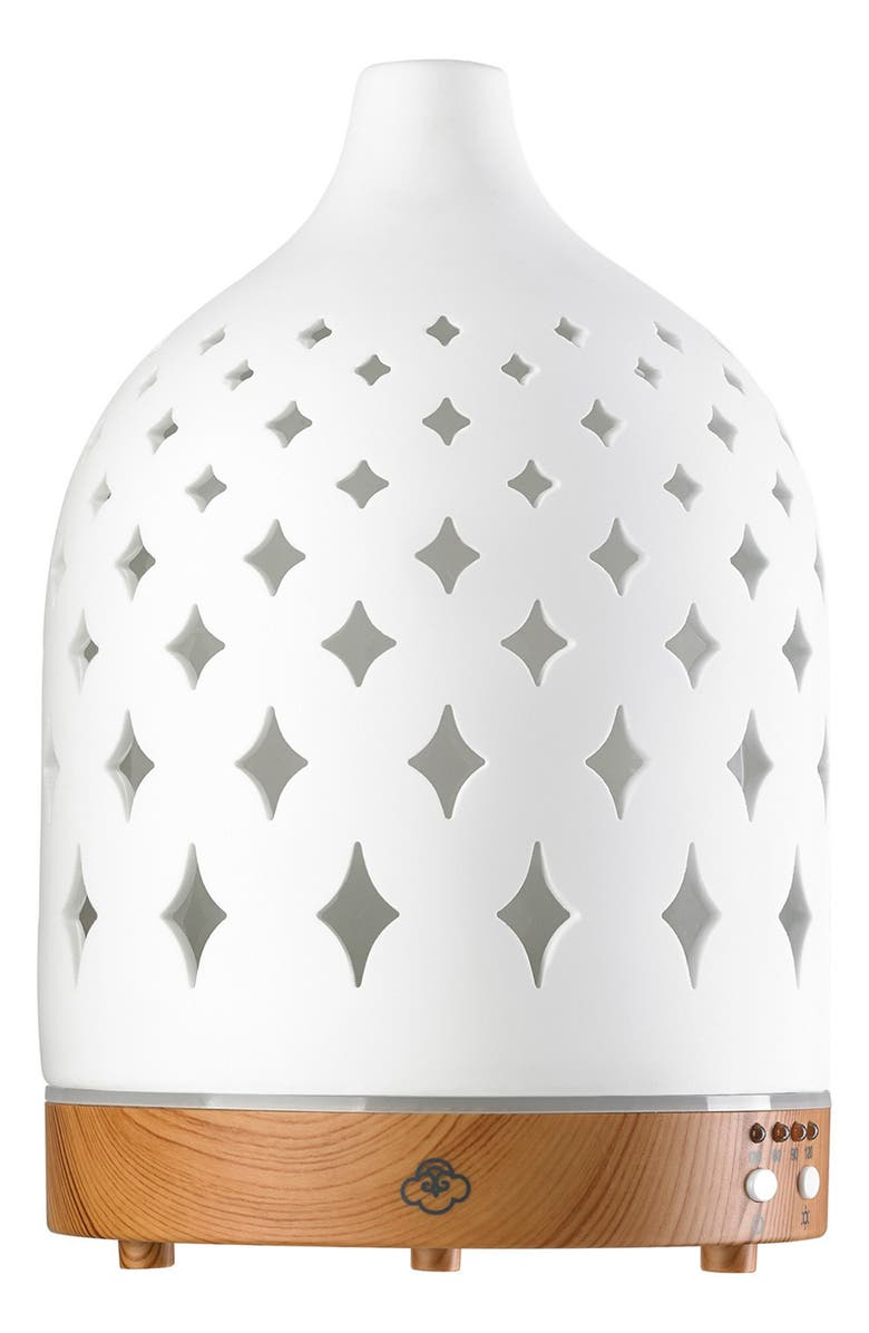 SERENE HOUSE Supernova Electric Aromatherapy Diffuser, Main, color, WHITE