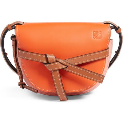 Loewe Gate Small Leather Crossbody Bag - Orange