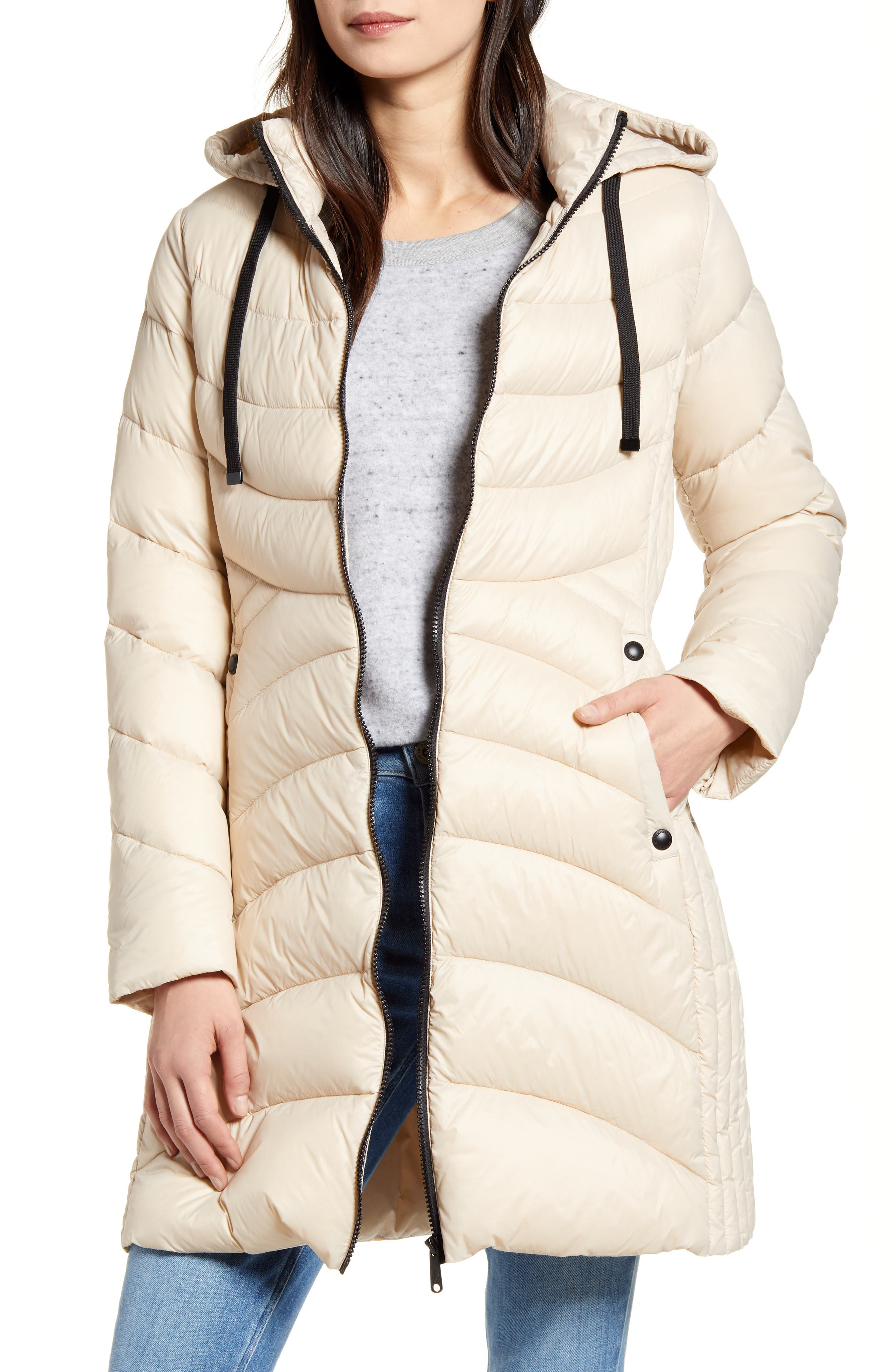 Sam Edelman Hooded Packable Puffer Coat   Nordstrom