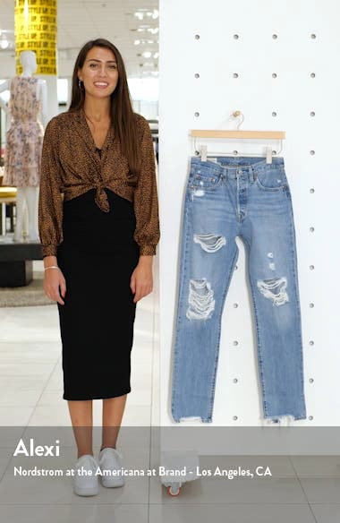 501<sup>®</sup> Ripped High Waist Straight Leg Jeans, sales video thumbnail