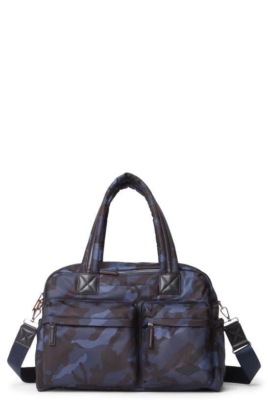 Mz Wallace Bleecker Nylon Duffle Bag In Dark Blue Camo