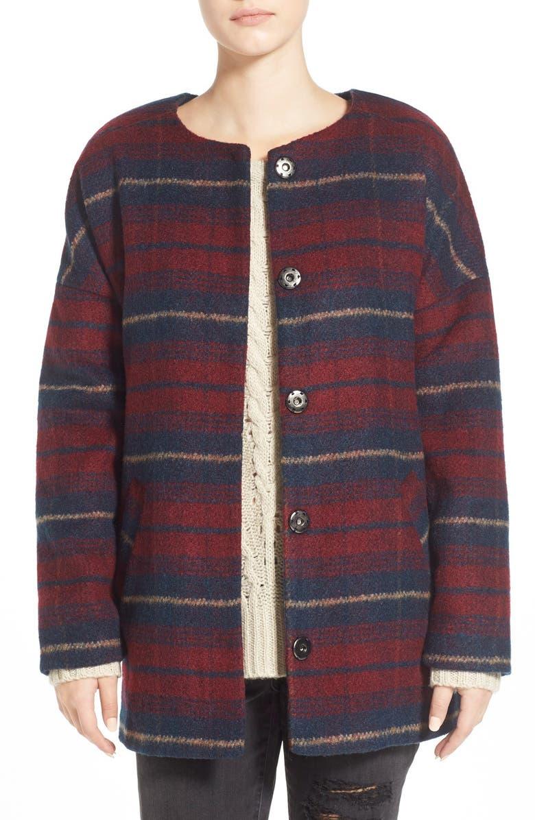 JOLT Plaid Overcoat, Main, color, 617