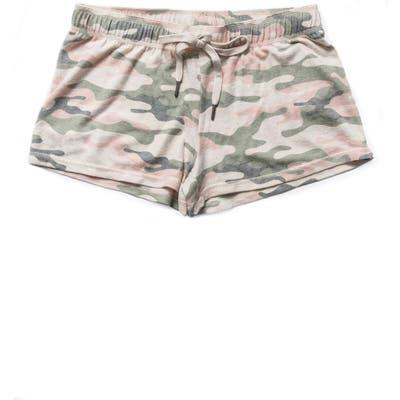 Pj Salvage Peachy Dreams Camo Pajama Shorts, Beige