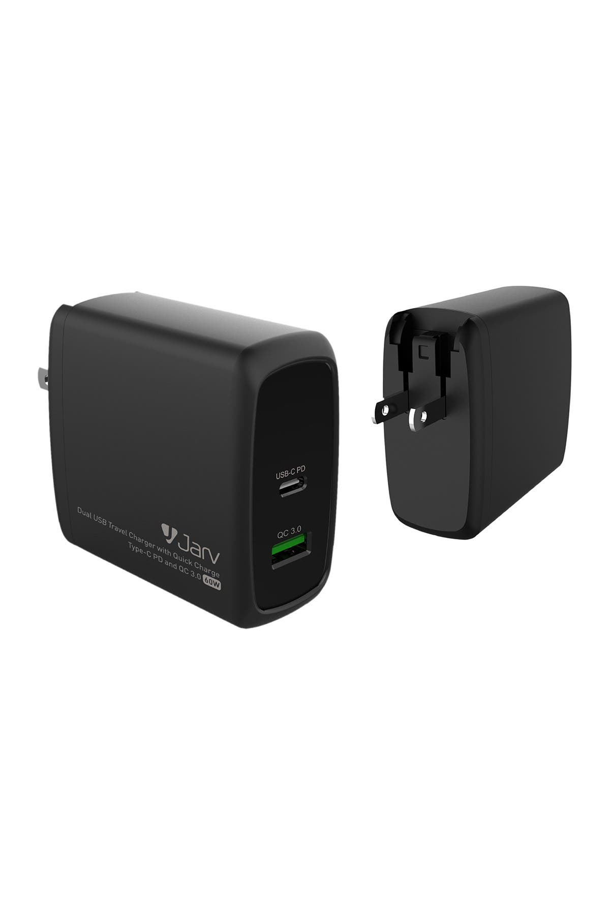 Image of RevJams 60W Dual USB Travel Charger w/ Quick Charge, Type-C PD & QC 3.0