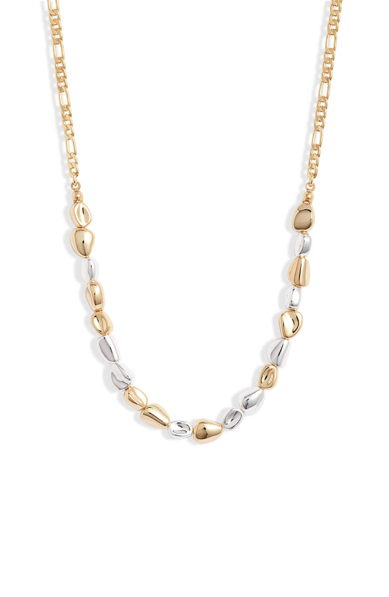 JENNY BIRD Nevis Necklace, Main, color, HIGH POLISH GOLD/ SILVER
