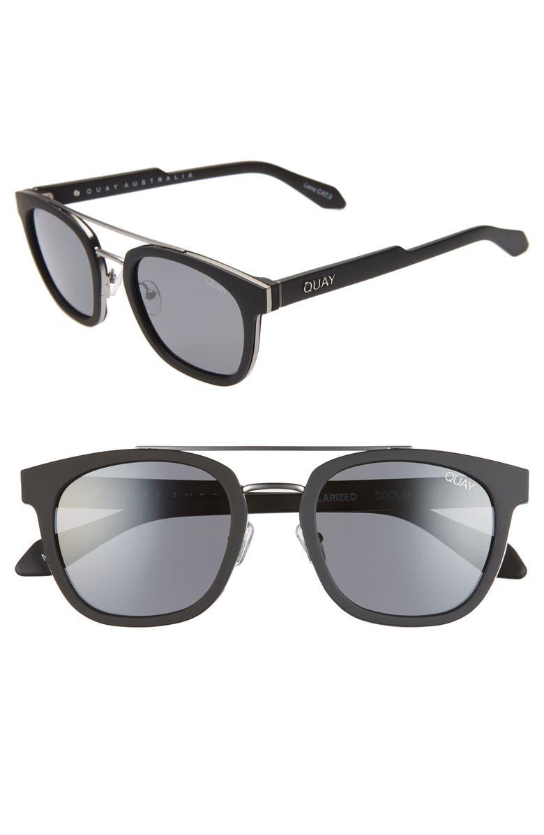 QUAY AUSTRALIA Coolin 51mm Polarized Sunglasses, Main, color, 002