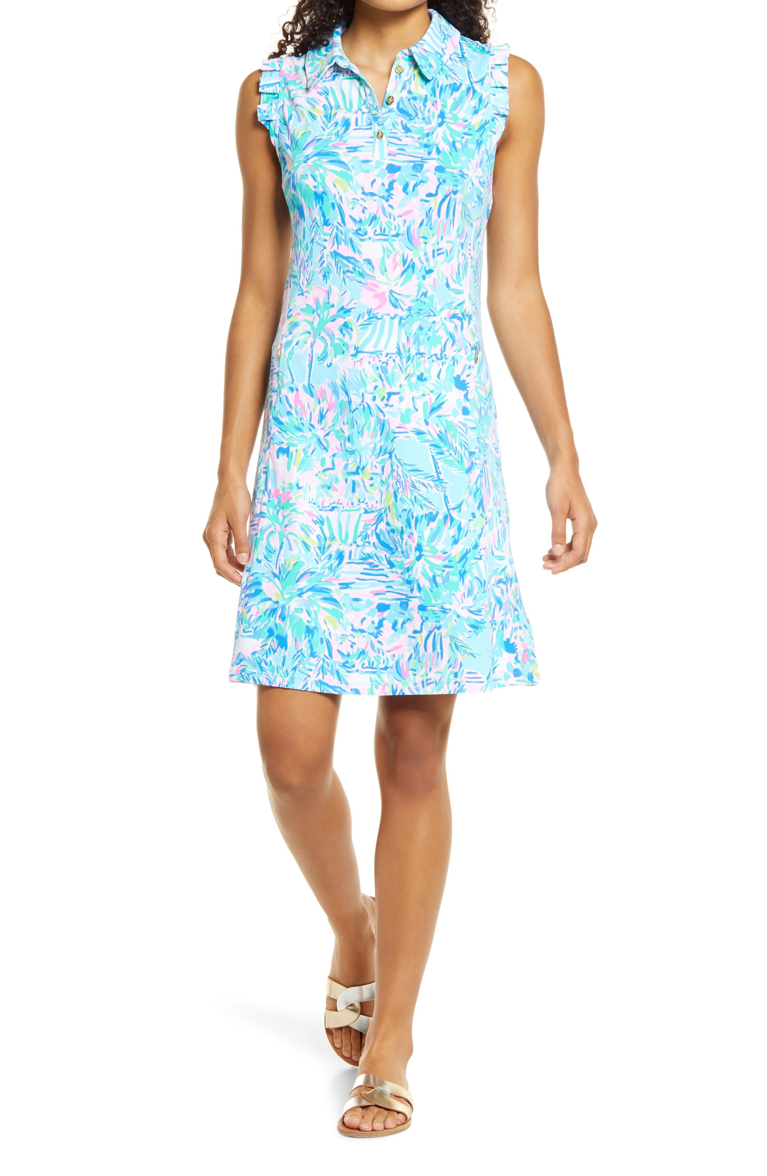 Women's Lilly Pulitzer Upf 50+ Floral Sleeveless Dress & Shorts Set