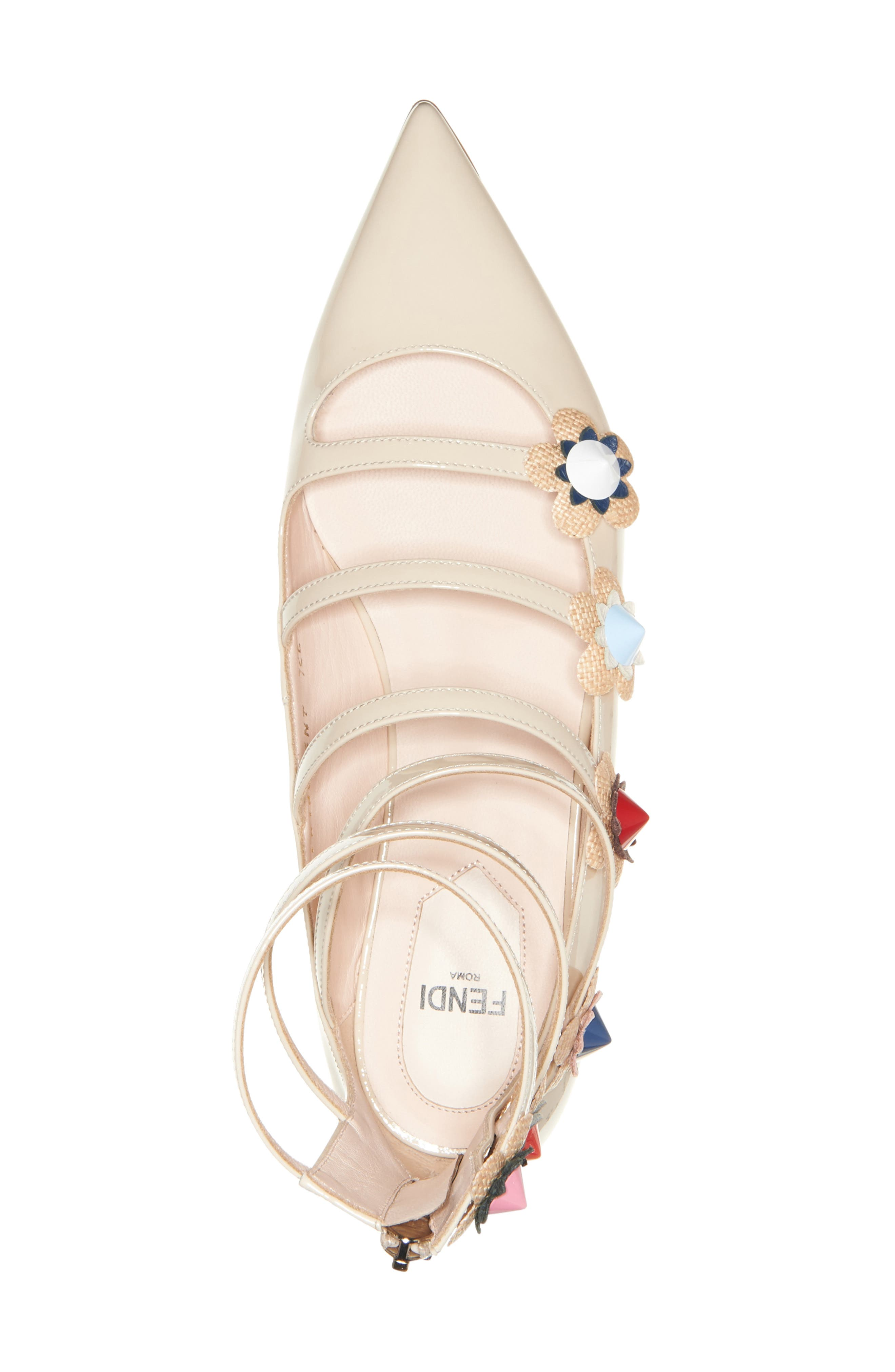 ,                             'Flowerland' Strappy Flat,                             Alternate thumbnail 4, color,                             250
