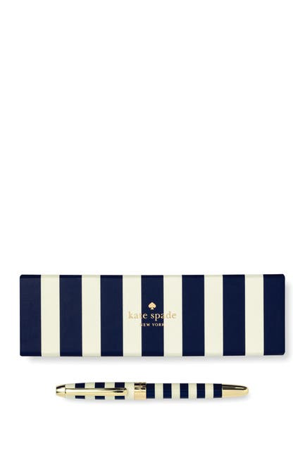Image of kate spade new york ballpoint pen, navy stripe