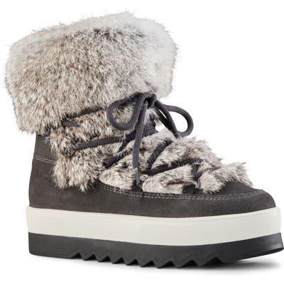 Cougar Vanora Waterproof Boot With Genuine Rabbit Fur Trim, Grey