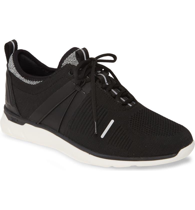 JOHNSTON & MURPHY Prentiss XC4<sup>®</sup> Waterproof Low Top Sneaker, Main, color, BLACK KNIT