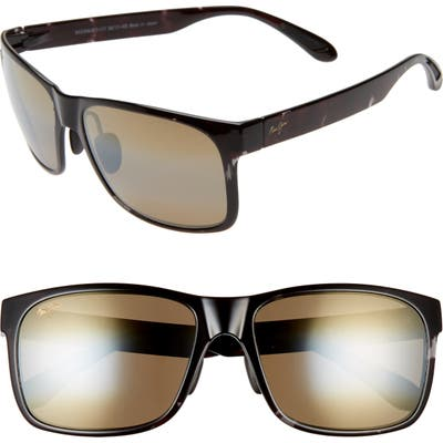 Maui Jim Red Sands 5m Polarized Sunglasses - Black Grey Tortoise