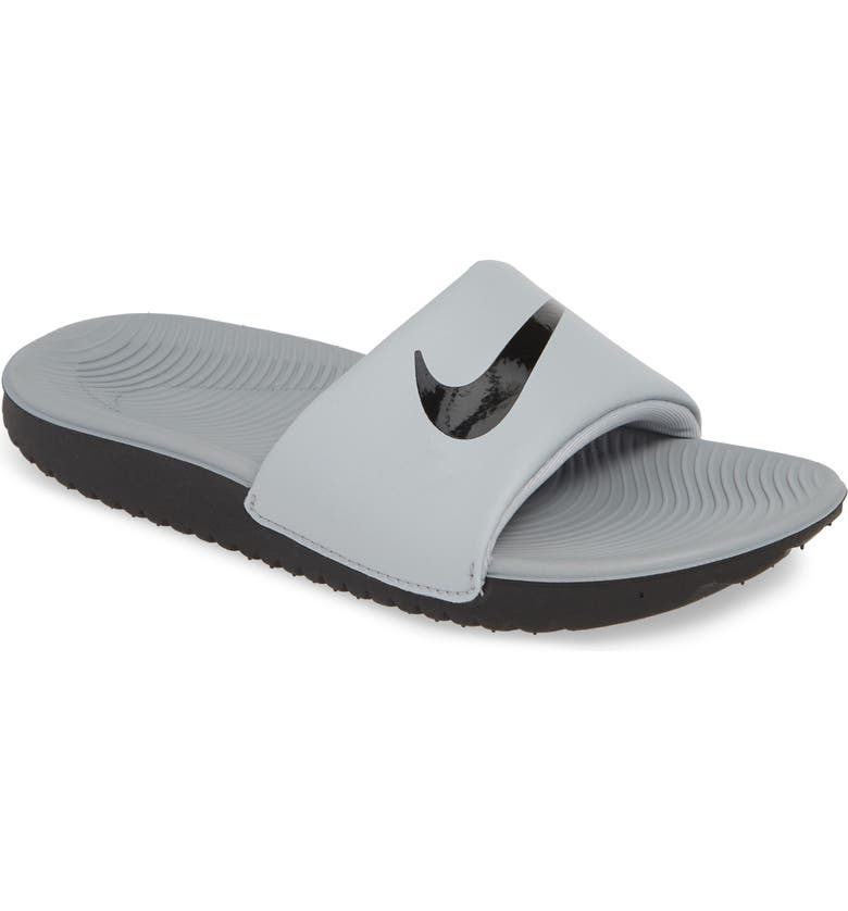 NIKE 'Kawa' Slide Sandal, Main, color, WOLF GREY/ BLACK