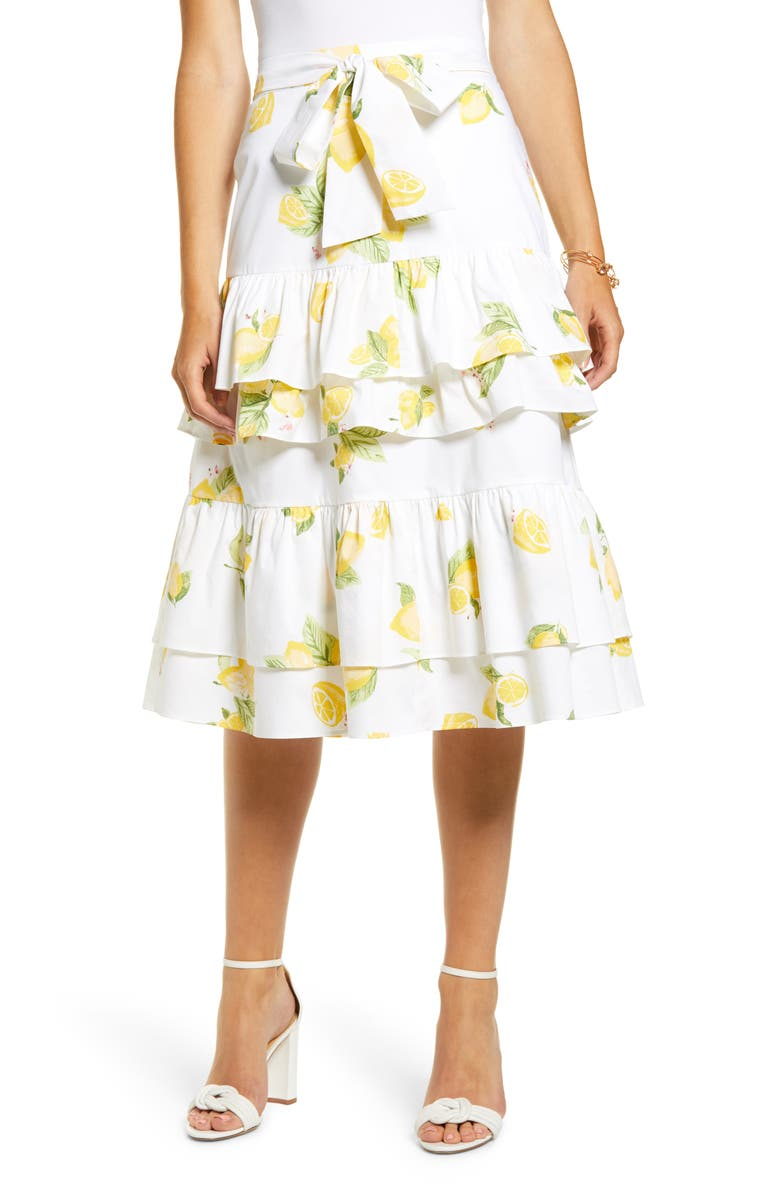 Lemon Tiered Ruffle Skirt by Rachel Parcell