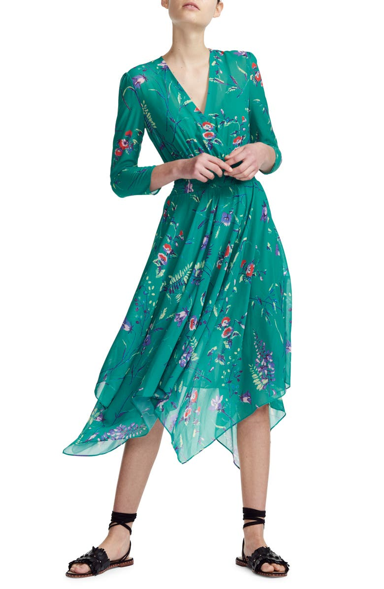 d6bc713119f7 Rayema Floral Handkerchief Hem Midi Dress, Main, color, PRINTED