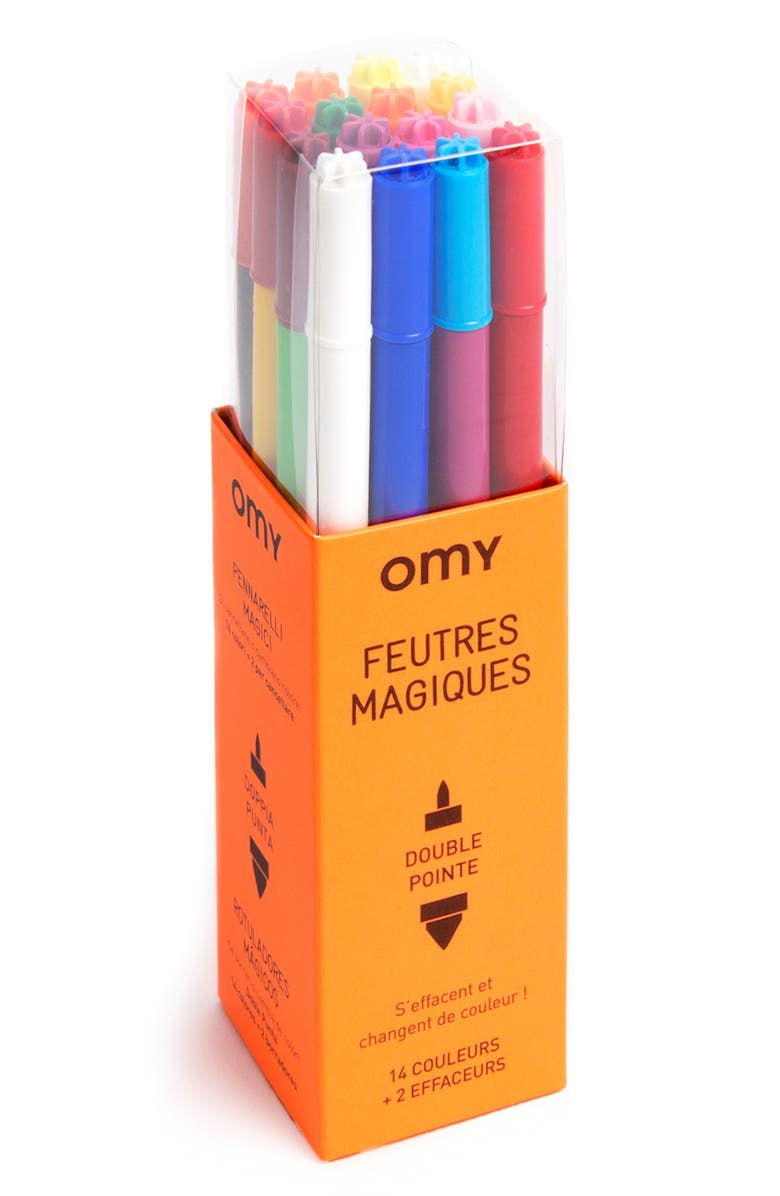 OMY Set of 16 Double-Point Magic Markers, Main, color, 800