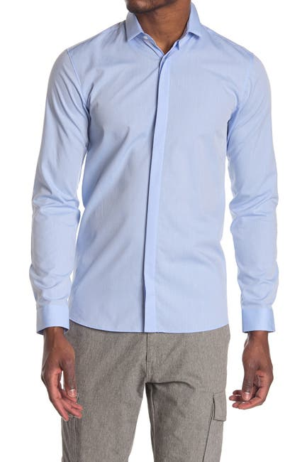 Image of BOSS Etran Solid Long Sleeve Shirt