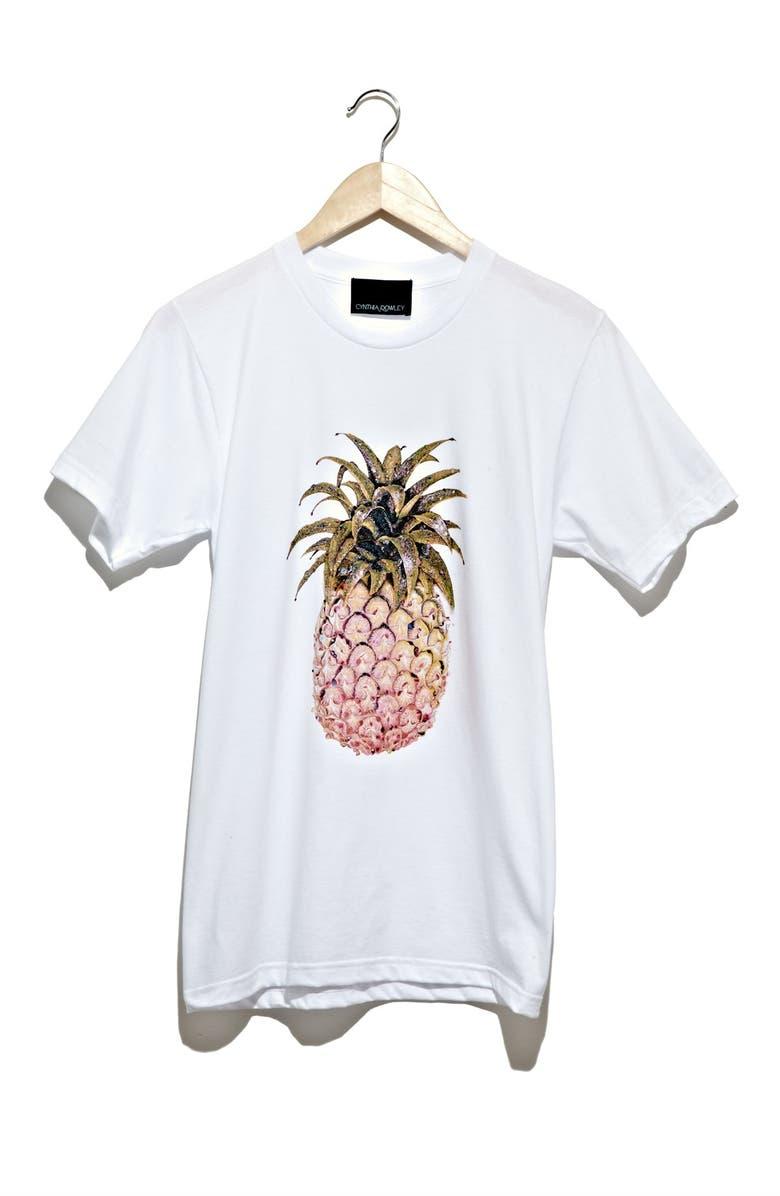 CYNTHIA ROWLEY 'Pineapple' Tee, Main, color, 001