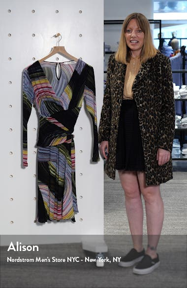 Indigo Long Sleeve Faux Wrap Dress, sales video thumbnail