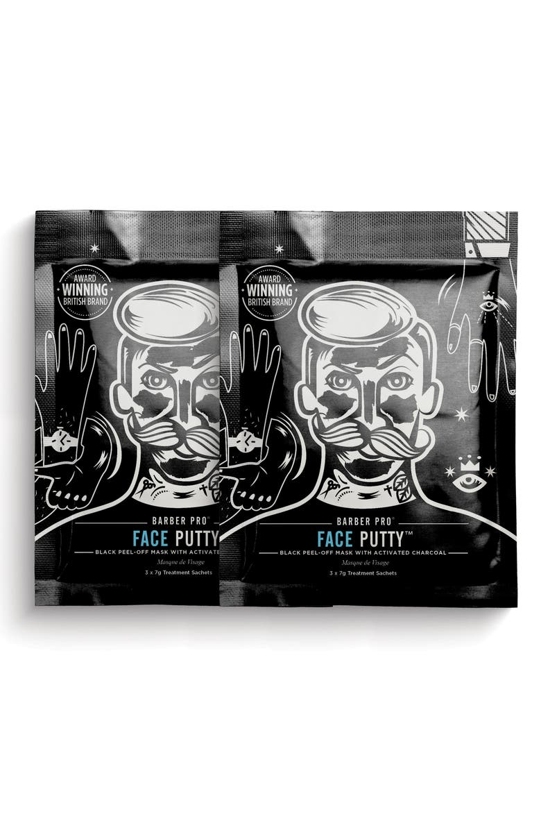 BARBER PRO Face Putty Black Peel-Off Mask Duo, Main, color, NO COLOR