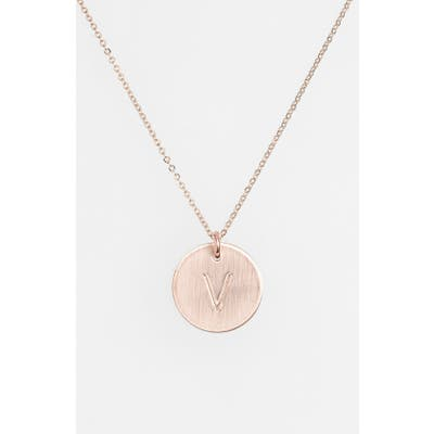 Nashelle 14K-Gold Fill Initial Disc Necklace