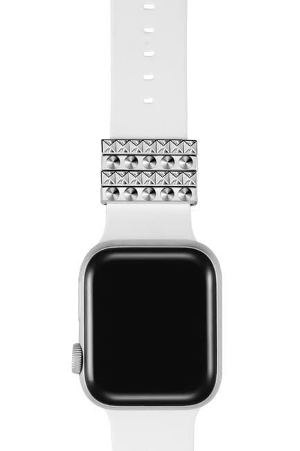 Image of POSH TECH Silver Apple Watch Band Charm - Set of 4