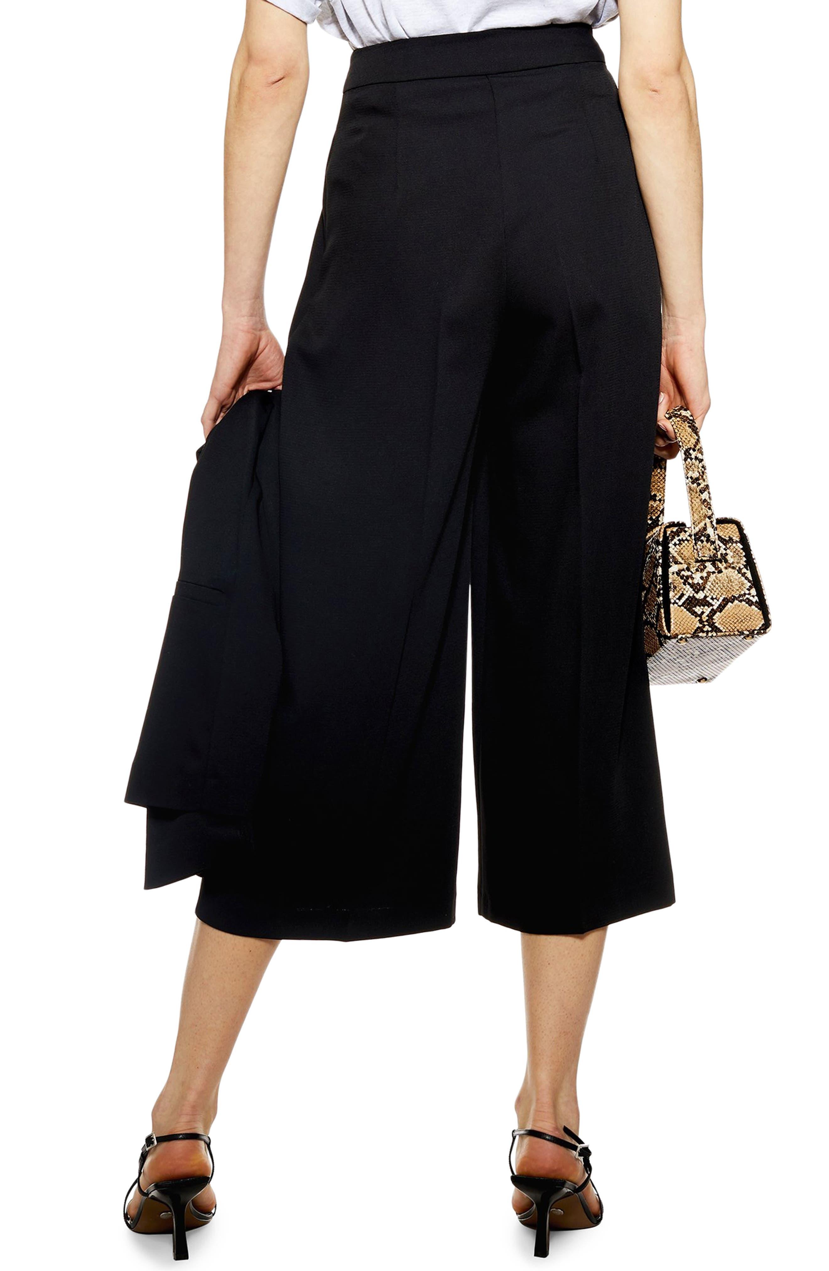 ,                             Rita Cropped Wide Leg Trousers,                             Alternate thumbnail 2, color,                             BLACK
