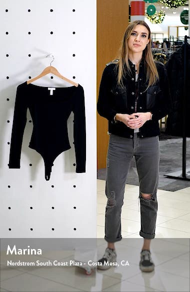 Square Neck Long Sleeve Bodysuit, sales video thumbnail