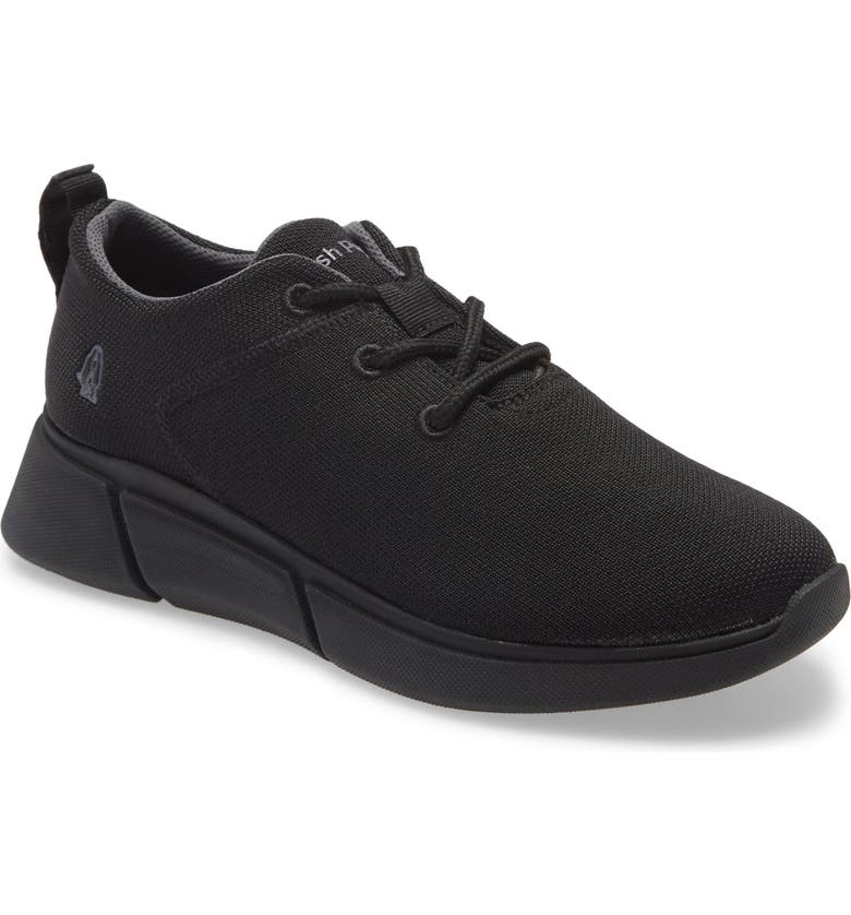 HUSH PUPPIES<SUP>®</SUP> Makenna Sneaker, Main, color, BLACK HEATHERED KNIT FABRIC