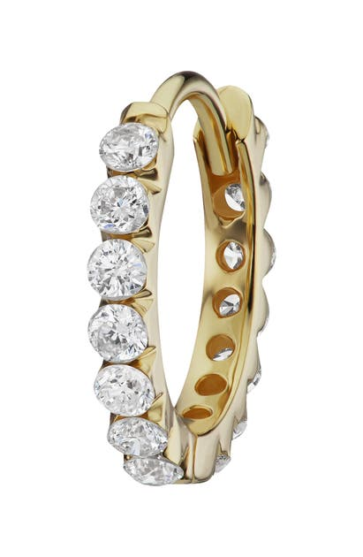 Maria Tash INVISIBLE SET DIAMOND ETERNITY HUGGIE EARRING