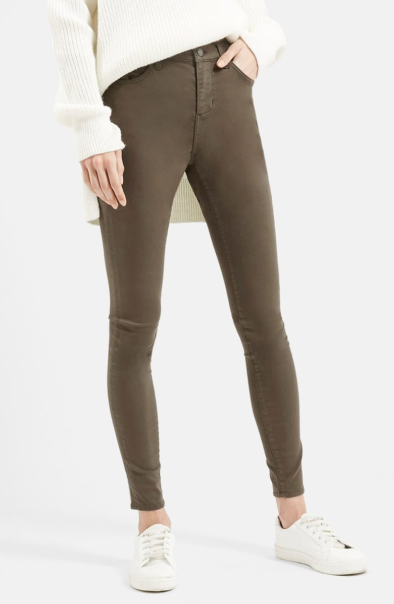 TOPSHOP Moto 'Leigh' Ankle Skinny Jeans, Main, color, 300