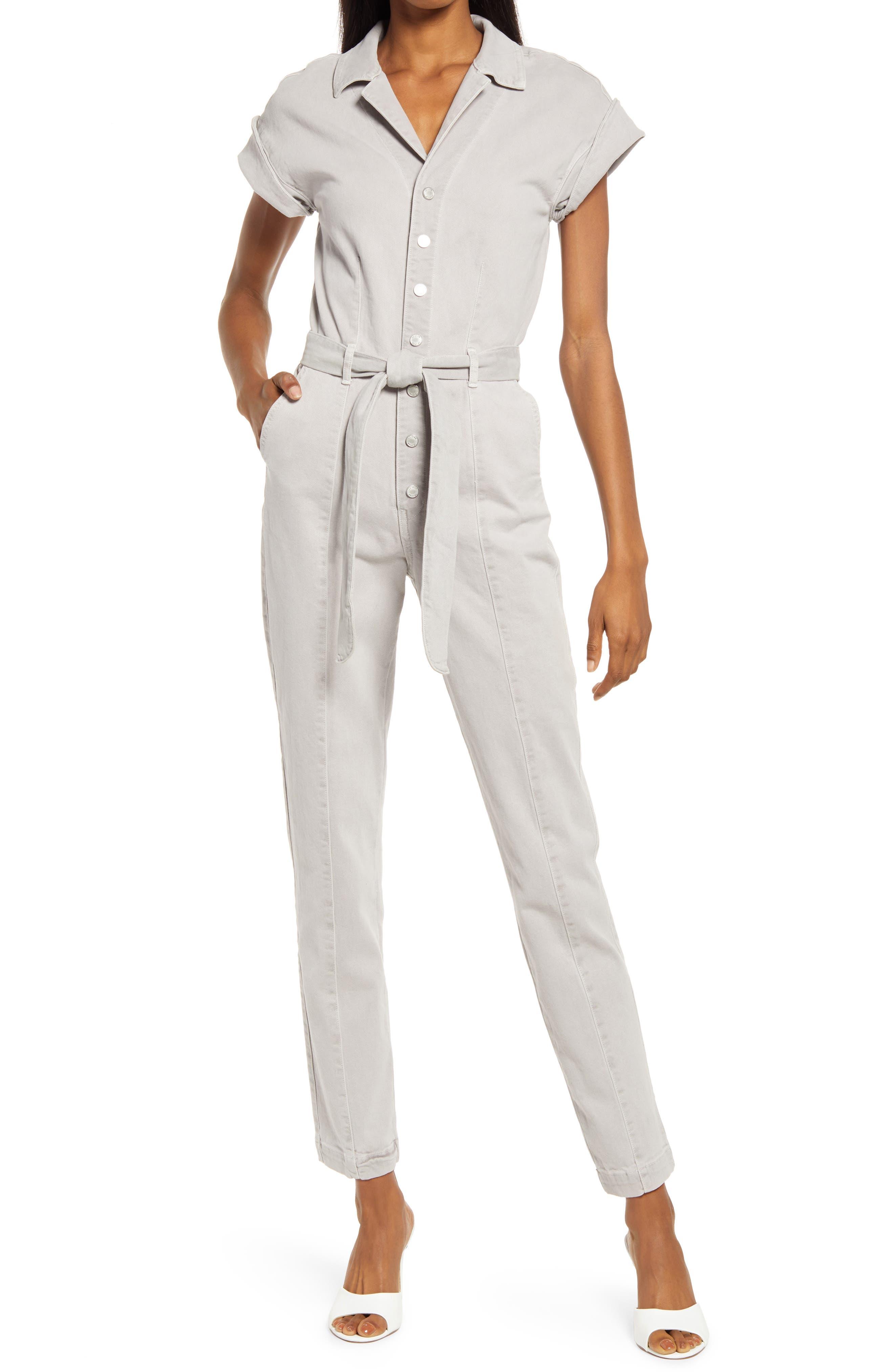 Demi Stretch Cotton Denim Jumpsuit