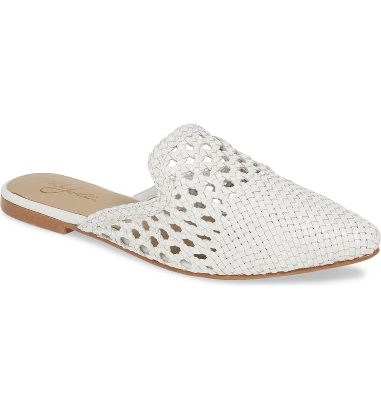 42 GOLD Corra Woven Loafer Mule, Main, color, WHITE LEATHER