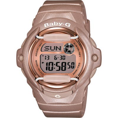 Baby-G Pink Dial Digital Watch, 4m X 42Mm