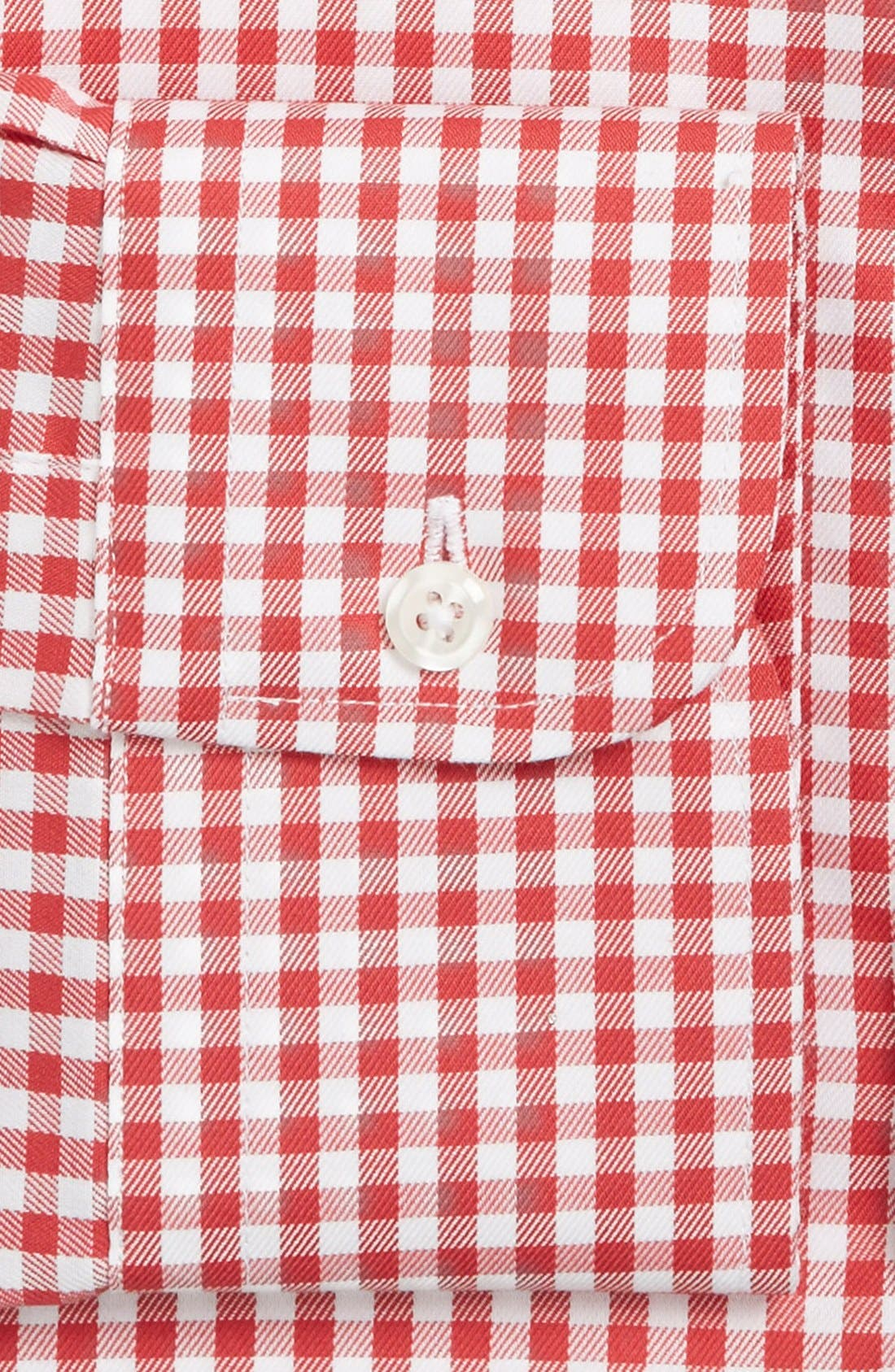 ,                             Traditional Fit Non-Iron Gingham Dress Shirt,                             Alternate thumbnail 71, color,                             610