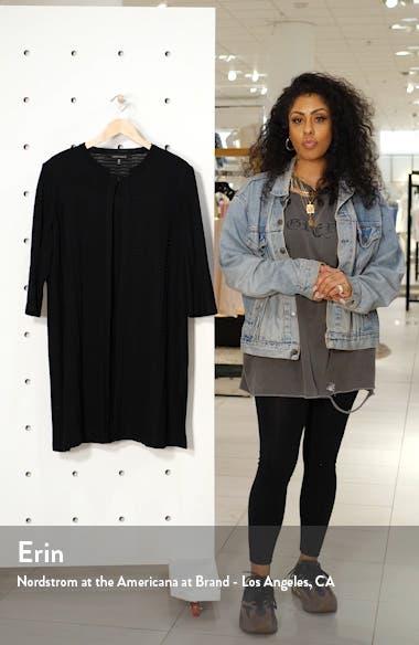 Textured Knit Long Jacket, sales video thumbnail