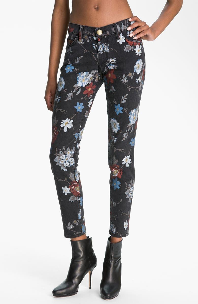 CURRENT/ELLIOTT 'The Stiletto' Print Skinny Jeans, Main, color, 009