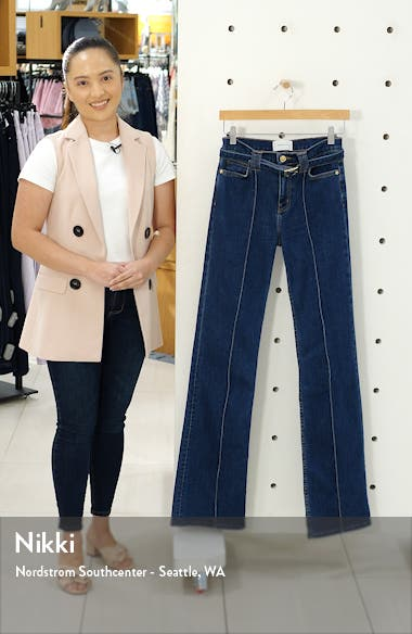 The Admirer High Waist Belted Flare Jeans, sales video thumbnail