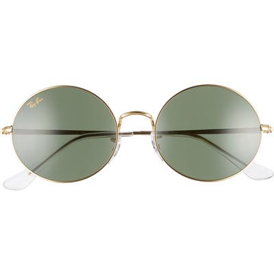 Ray-Ban 5m Round Sunglasses - Gold/ Green Solid