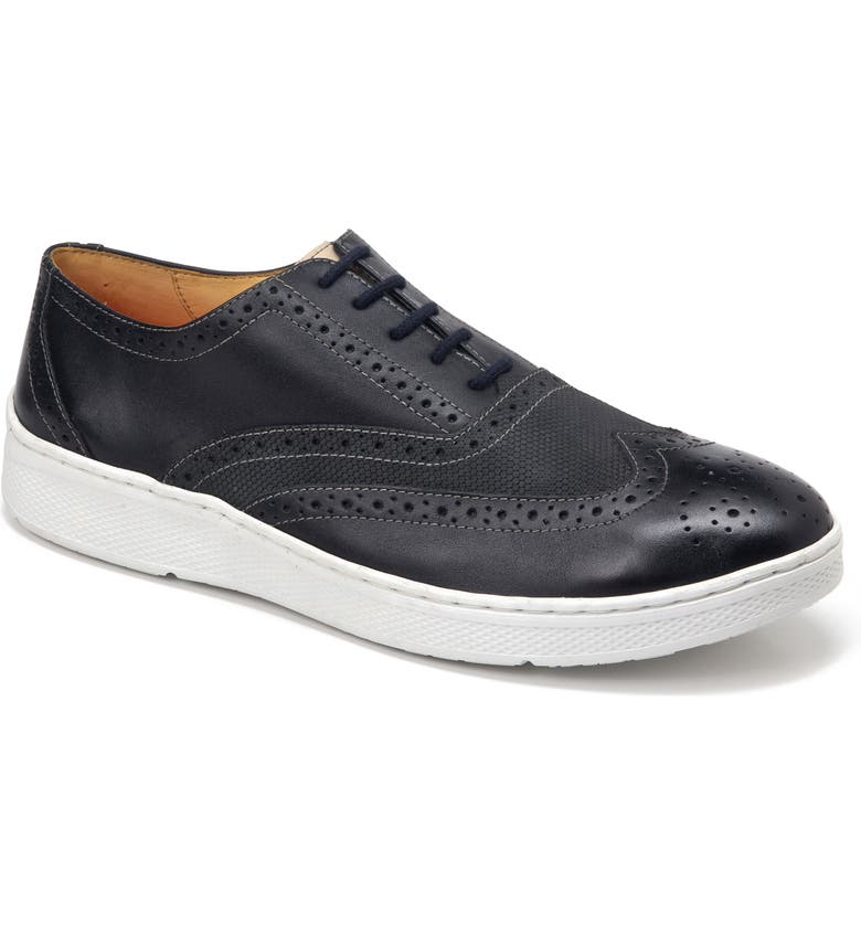 SANDRO MOSCOLONI Miklos Wingtip, Main, color, BLACK LEATHER