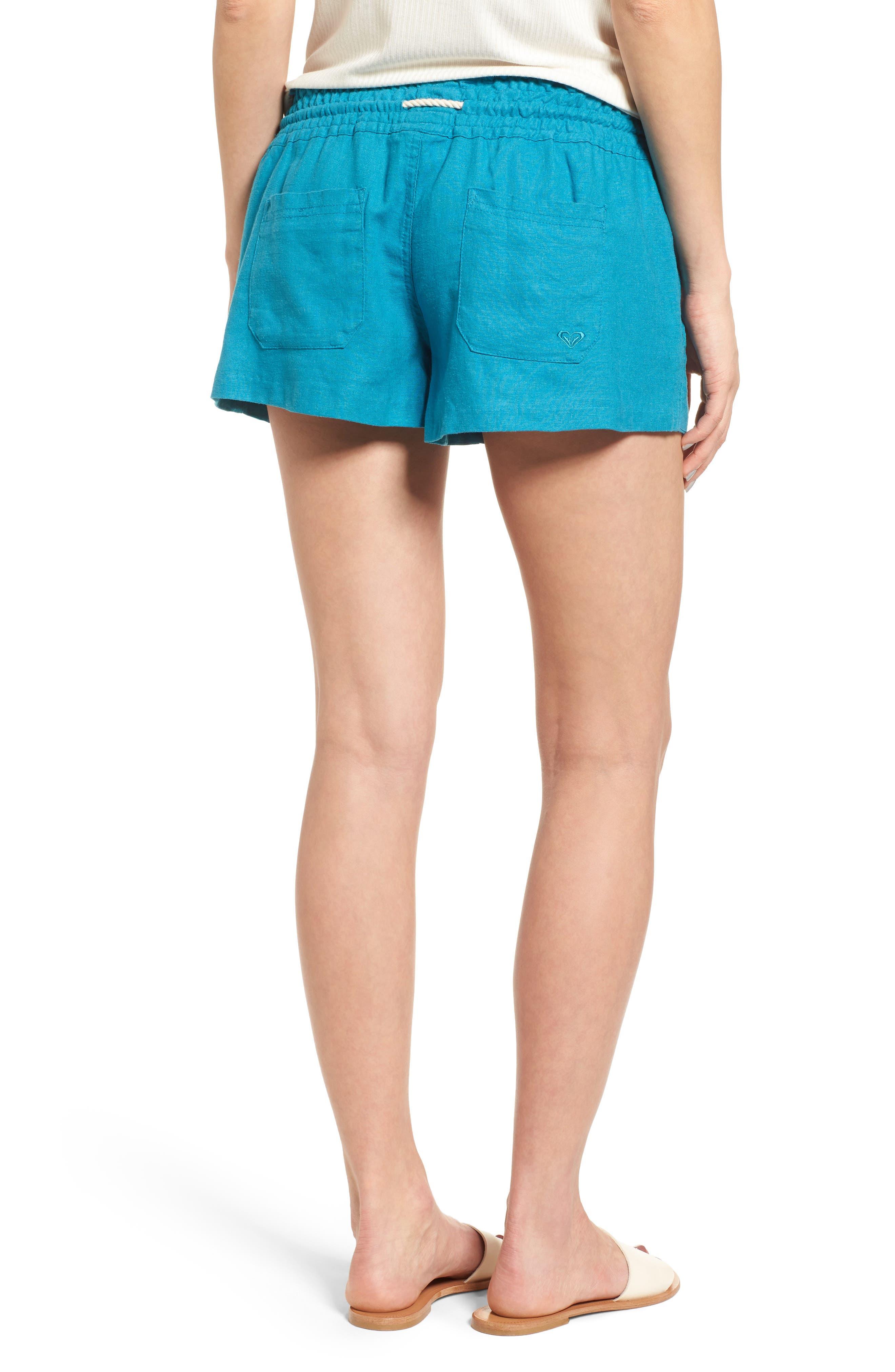 ,                             'Oceanside' Linen Blend Shorts,                             Alternate thumbnail 32, color,                             421
