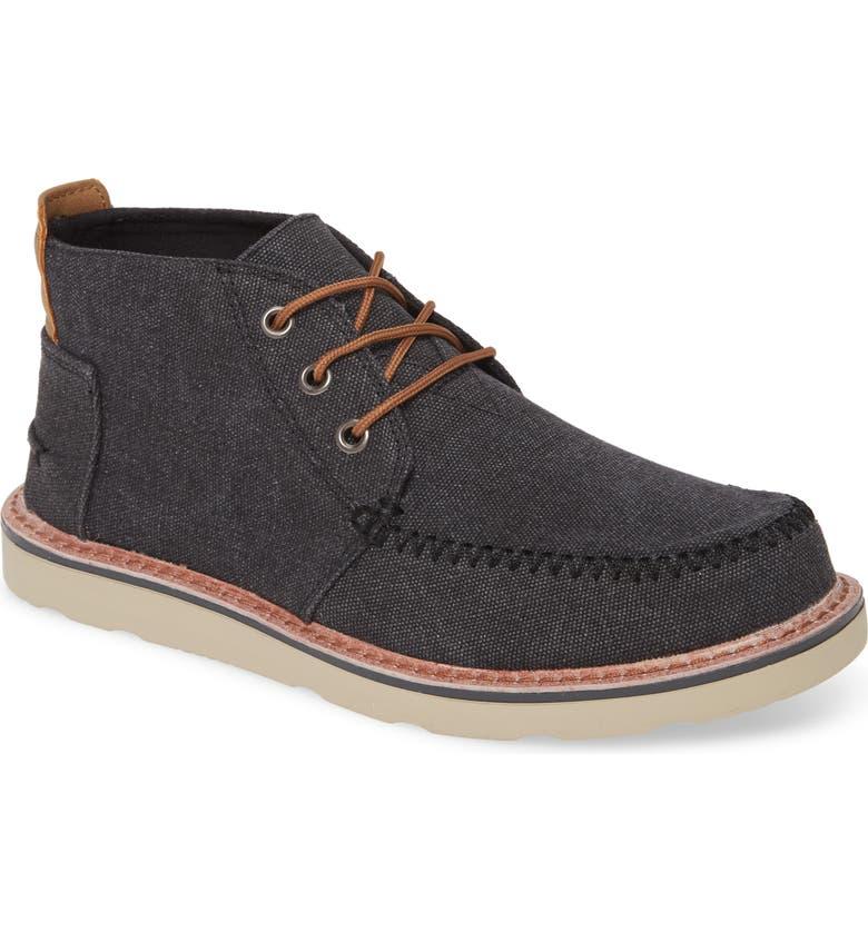 TOMS Moc Toe Boot, Main, color, BLACK