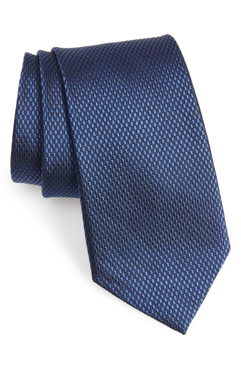 NORDSTROM MEN'S SHOP Solid Silk Tie, Main, color, NAVY