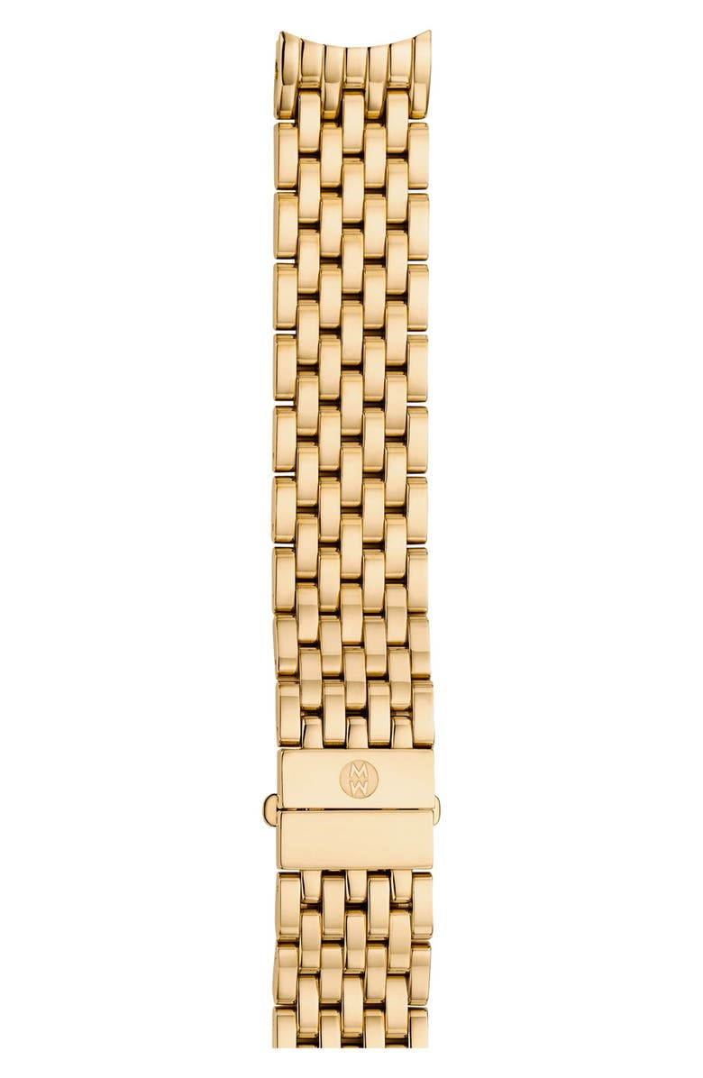 MICHELE Serein 16mm Gold Plated Bracelet Watchband, Main, color, GOLD