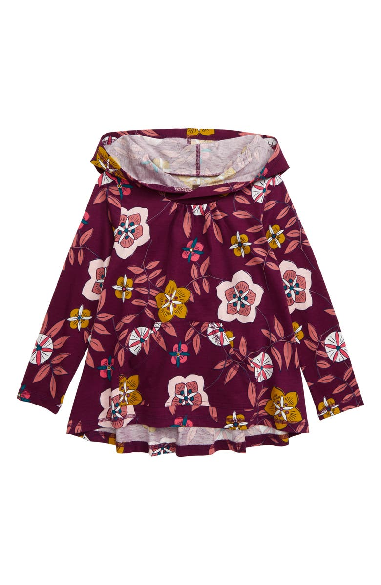TEA COLLECTION Swing Hoodie, Main, color, FLORAL