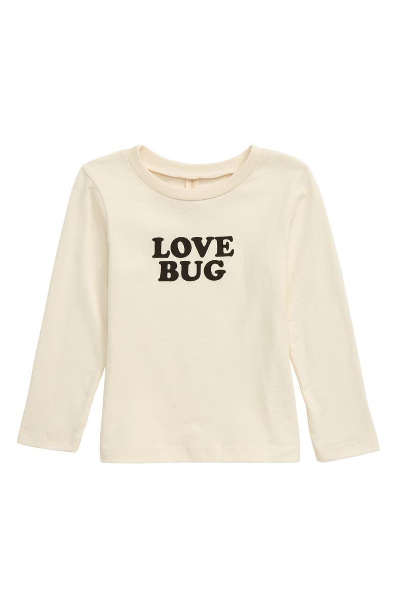 TENTH & PINE Love Bug Organic Cotton T-Shirt, Main, color, NATURAL