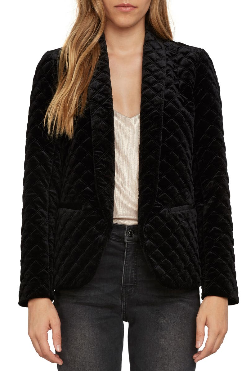 ZZDNU WILLOW & CLAY Willow & Clay Quilted Blazer, Main, color, 001