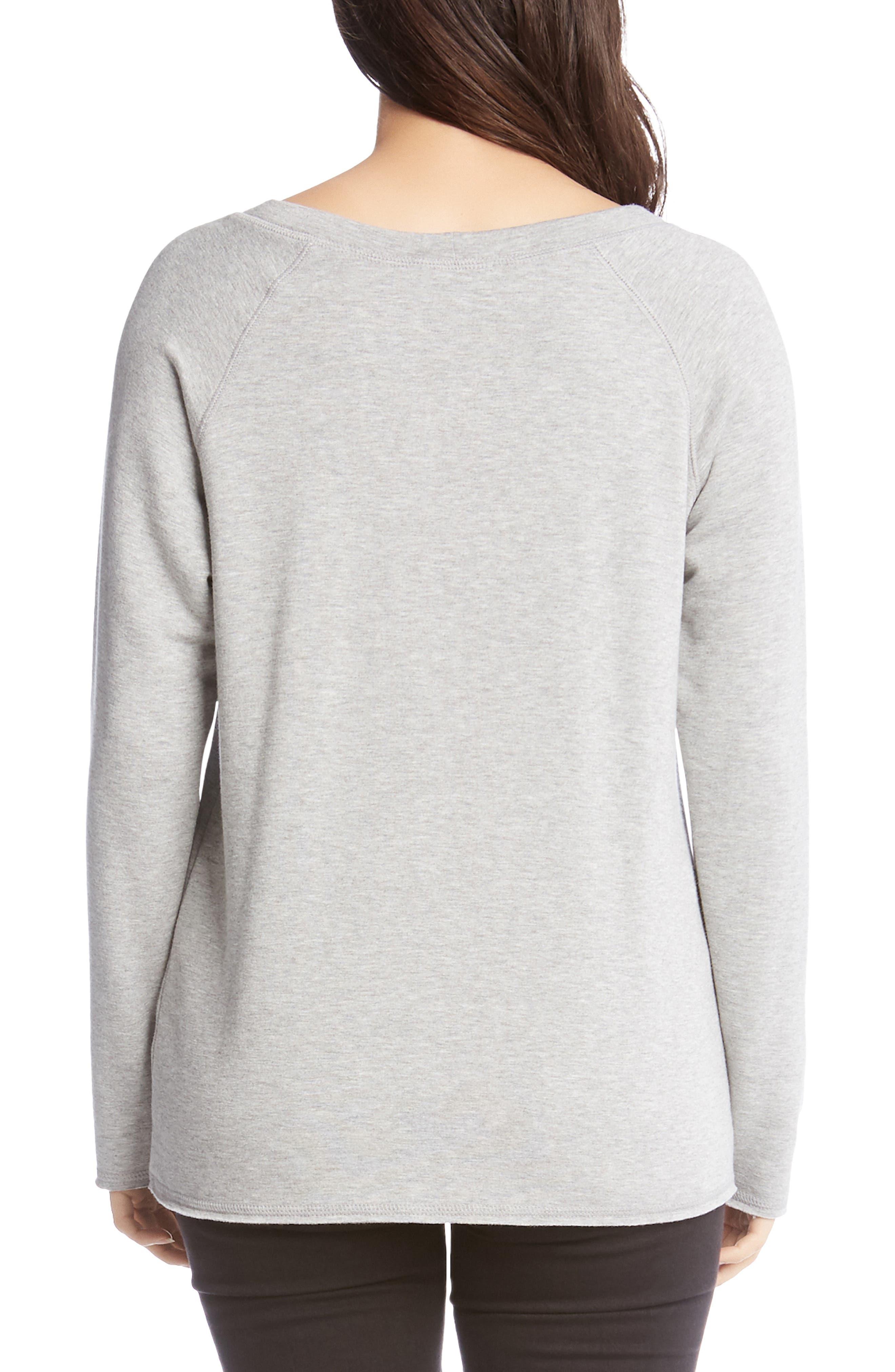 ,                             Embellished Sweatshirt,                             Alternate thumbnail 2, color,                             LIGHT HEATHER GREY